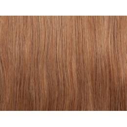 18 średni naturalny blond 60cm TAPE ON mikrokanapki Gold Line