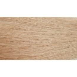 24 średni jasny blond 50cm GoldLine MIKRORINGI 20szt. REMY