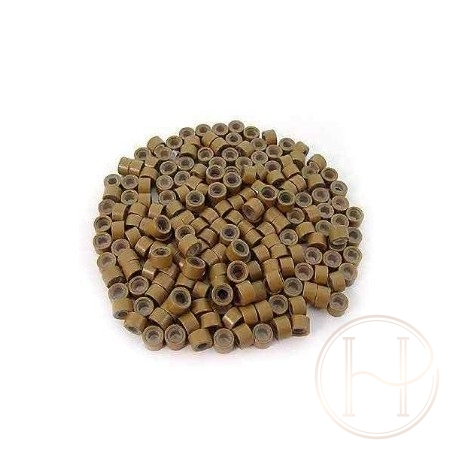 Microringi z silikonem brąz 100szt
