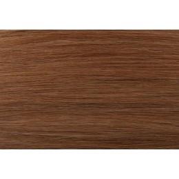 SŁOWIAŃSKIE grube pasemka 12 średni złocisty blond  50cm REMY do microringów