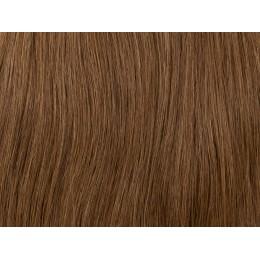 6 jasny brąz Włosy na taśmie silikonwej 40cm skin weft TAPE ON