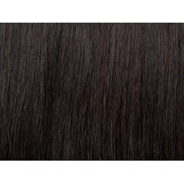 1b bardzo ciemny brąz Włosy na taśmie silikonwej 60cm skin weft TAPE ON