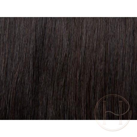 1b bardzo ciemny brąz Włosy na taśmie silikonwej 50cm skin weft TAPE ON