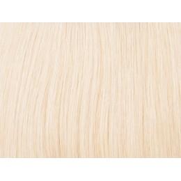 613 najjaśniejszy blond Włosy na taśmie silikonwej 50cm skin weft TAPE ON