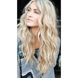 1001 lekko popielaty blond Włosy na taśmie silikonwej 50cm skin weft TAPE ON