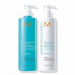 MOROCCANOIL zestawy MOISTURE  REPAIR szampon + odżywką 2x500ml