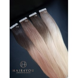 Arctic Blonde 50cm TAPE ON kanapki Gold Line OMBRE