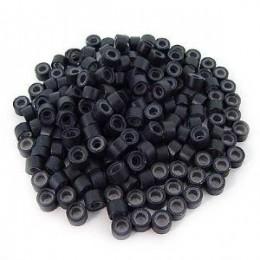 Microringi z silikonem czarne 100szt