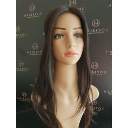 Tooper tupet damski elastyczny tył i boki ciemny braz