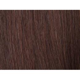 4 brąz Włosy na taśmie silikonwej 50cm TAPE ON
