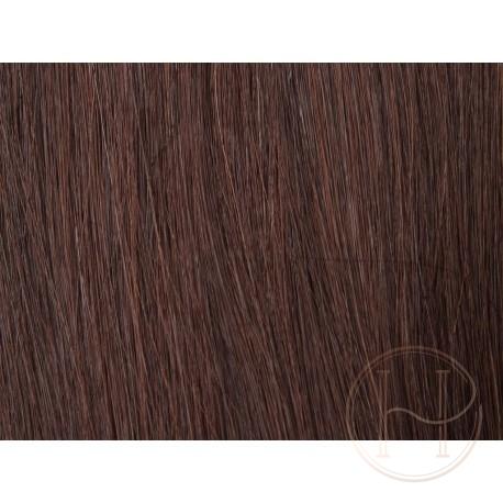 4 brąz Włosy na taśmie silikonwej 50cm skin weft TAPE ON
