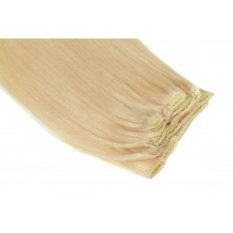 613 najjaśniejszy blond 50CM CLIP IN GOLDLINE 120G