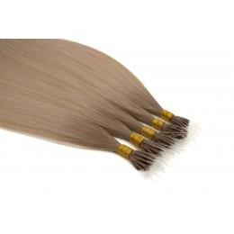 BB bergen blonde 50cm GoldLine NANORINGI SOFT 20szt. REMY 0,8g