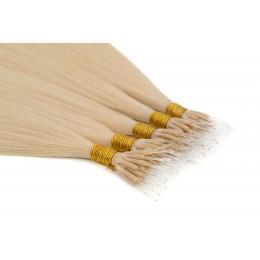 22a perłowy jasny blond 50cm GoldLine NANORINGI SOFT 20szt. REMY 0,8g
