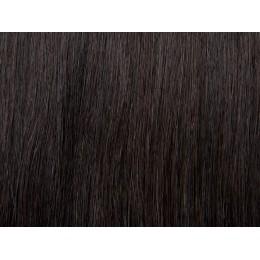 1b bardzo ciemny brąz Włosy na taśmie silikonwej 50cm TAPE ON