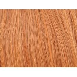 130 jasny ognisty rudy Włosy na taśmie silikonwej 50cm skin weft TAPE ON