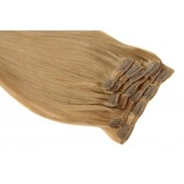 18 średni naturalny blond 50CM CLIP IN GOLDLINE 120G