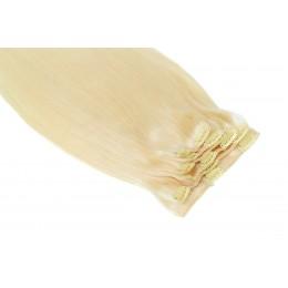 60 platynowy blond 50CM CLIP IN GOLDLINE 100g