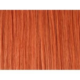 130 jasny ognisty rudy EUROPEJSKIE 40cm REMY na keratynę