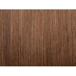 10 ciemny naturalny blond Włosy na taśmie silikonwej 40cm TAPE ON